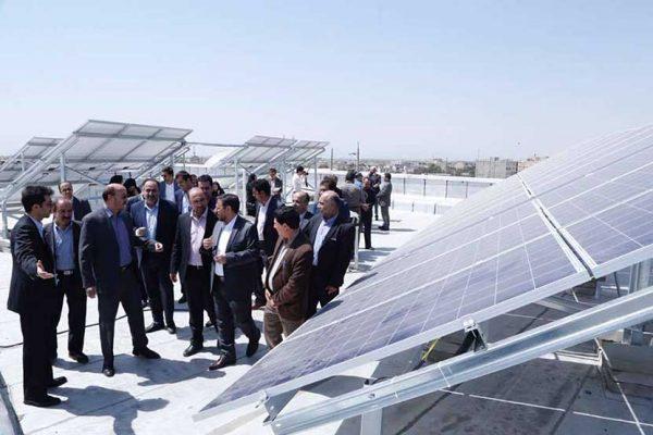 بزرگترین-نیروگاه-خورشیدی-پشت-بامی-در-قزوین-نیروگاه-خورشیدی
