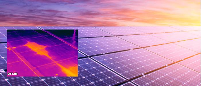بازرسی پنل های خورشیدی با تصویربرداری حرارتی